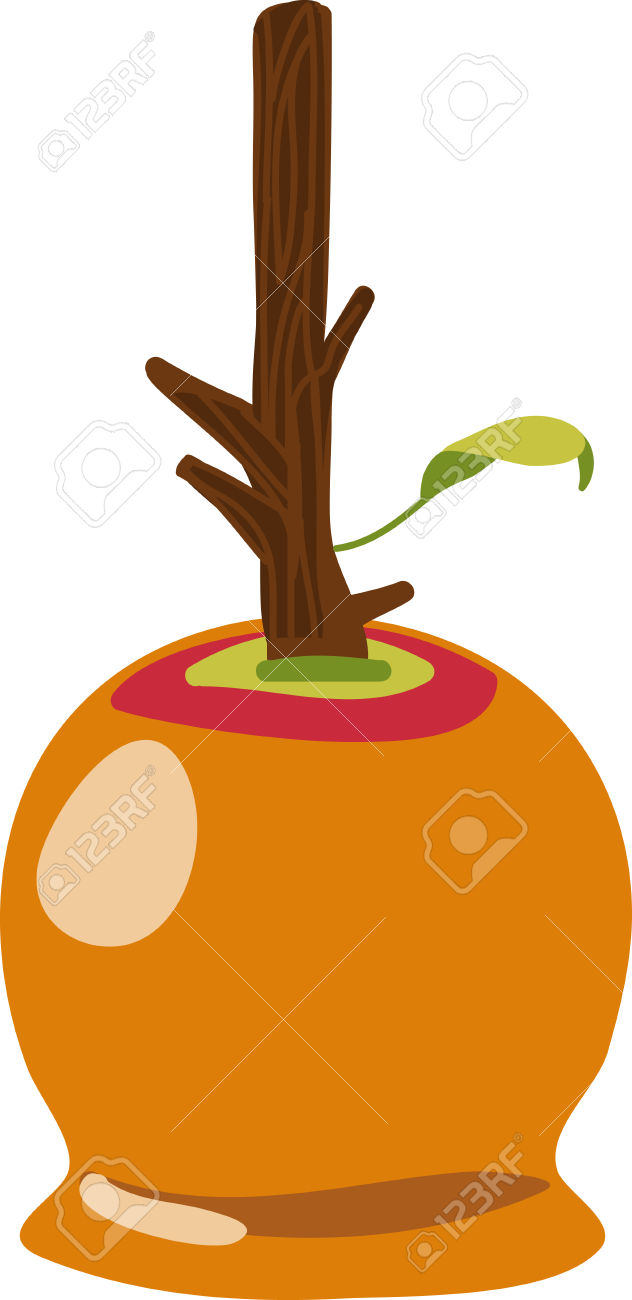 632x1300 Caramel Apple Clipart