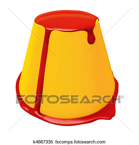 450x470 Stock Illustration Of Pudding Creme Caramel K4667335