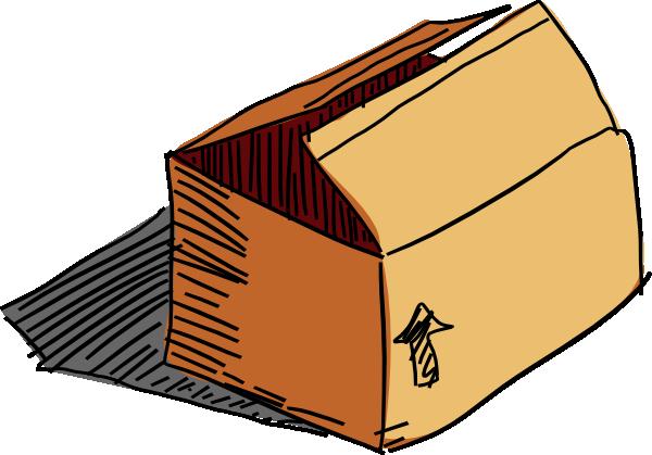 600x419 Cardboard Box Clip Art