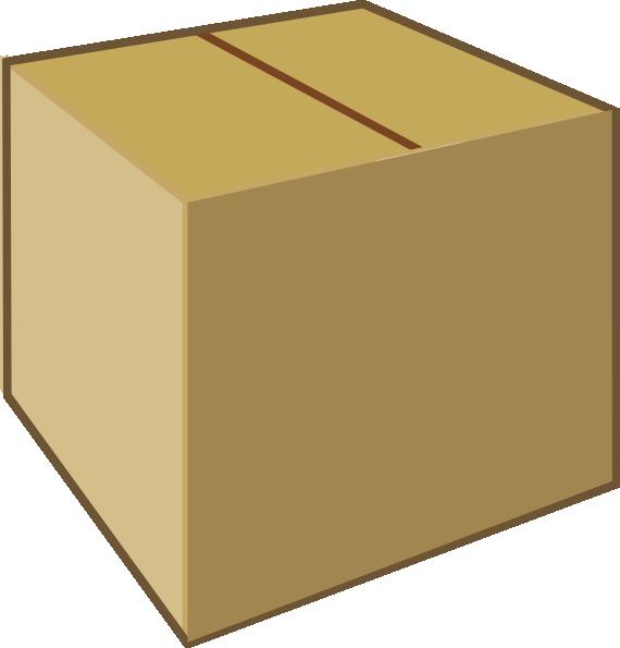 570x595 Cardboard Closed Box Clip Art