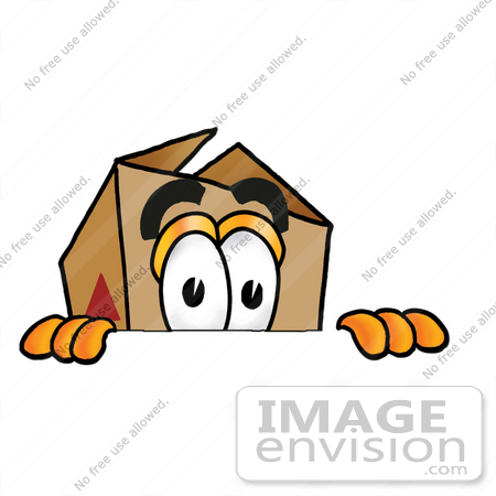 450x450 Clip Art Graphic Of A Cardboard Shipping Box Cartoon Character