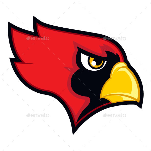 590x590 Red Cardinal Sports Logo By Harvysevillano Graphicriver