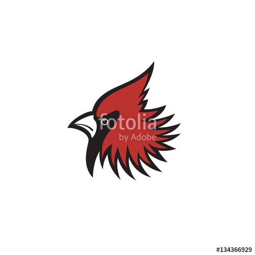 500x500 Red Head Cardinal Bird Logo Stock Image And Royalty Free Vector