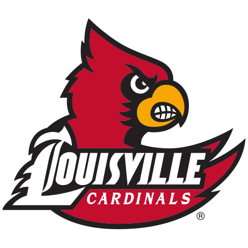 500x500 Logo University Of Louisville Cardinals Cardinal Bird Behind