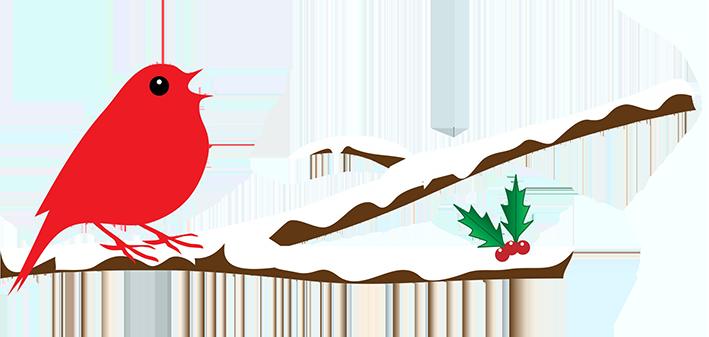 709x337 Cardinal Clipart Snowy Branch