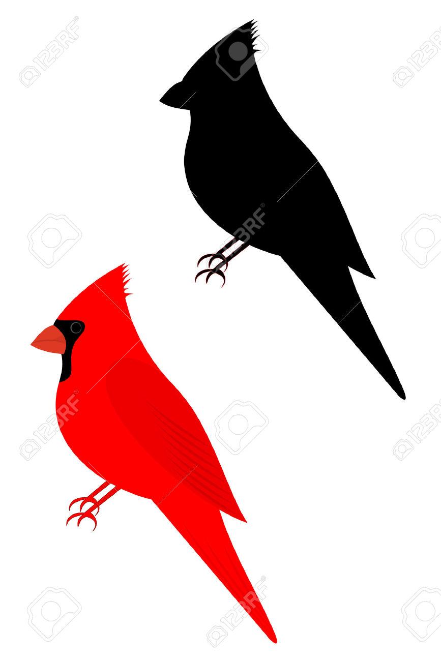 867x1300 Cardinal Bird Outline