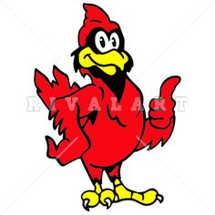 236x236 Free Cardinal Mascot Clipart