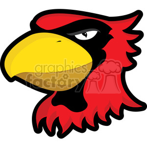 300x300 Royalty Free Cardinal Mascot 384858 Vector Clip Art Image