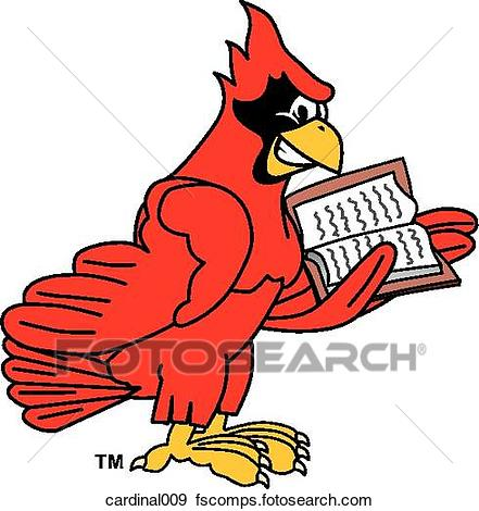 441x470 Stock Illustration Of Cardinal Reading Book Cardinal009