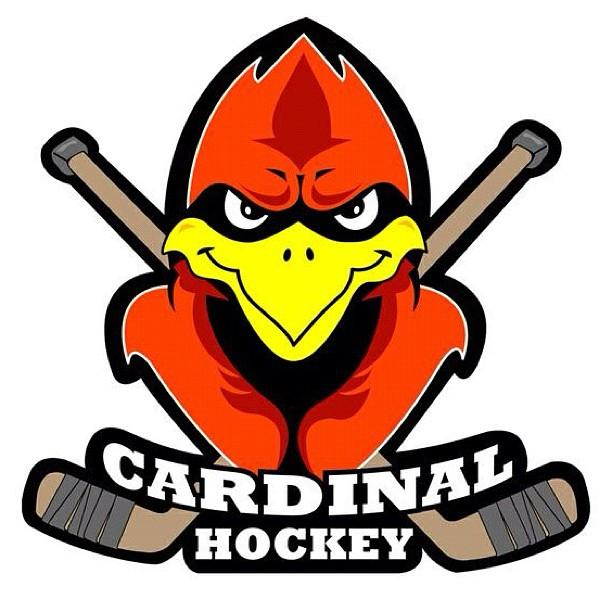 612x612 Cardinal Hockey Logo Canvas Print Canvas Art By Greg Hoogeveen