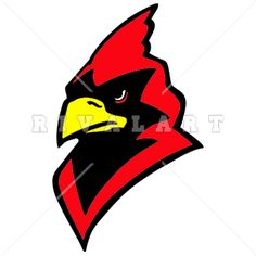 236x236 Mascot Clipart Image Of A Cardinal Holding A Football In Color