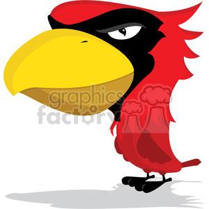 300x300 Royalty Free Cardinal Mascot With Cartoon Body 384811 Vector Clip