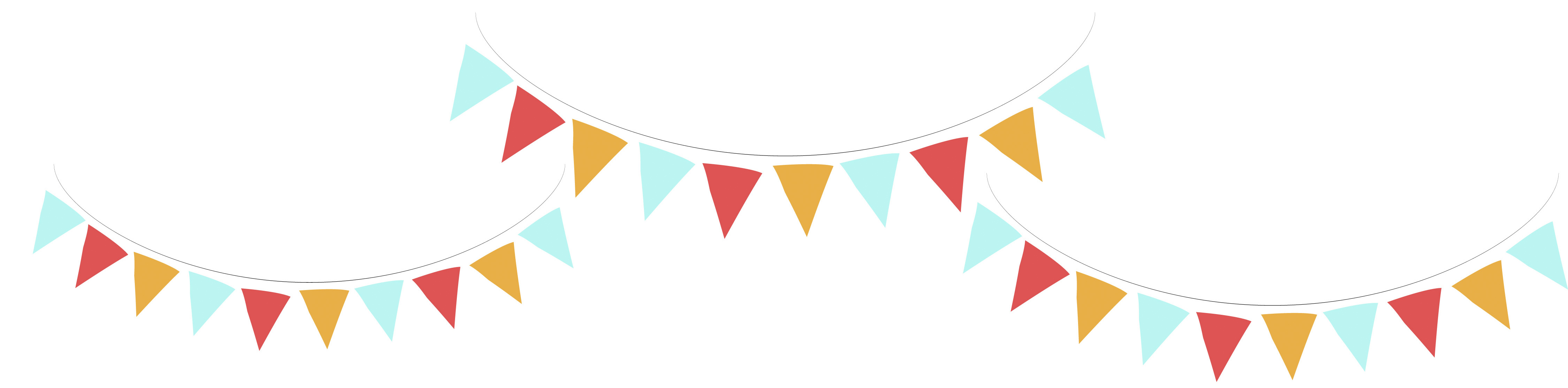 4500x1113 Bunting Clipart Carnival