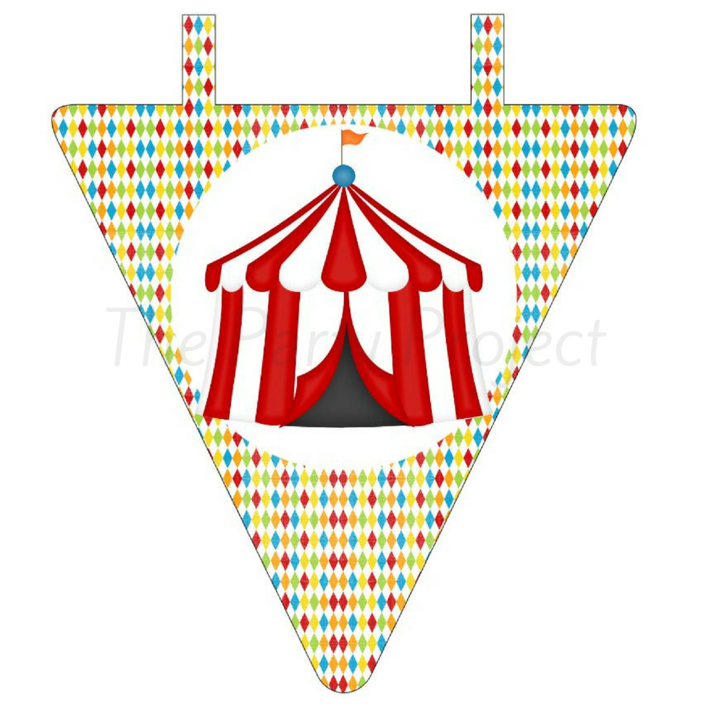 1024x1024 Diy Printable Circus Banner Digital Download Carnival Pennant
