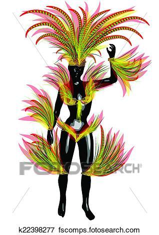 318x470 Clip Art Of Carnival Brazil K22398277