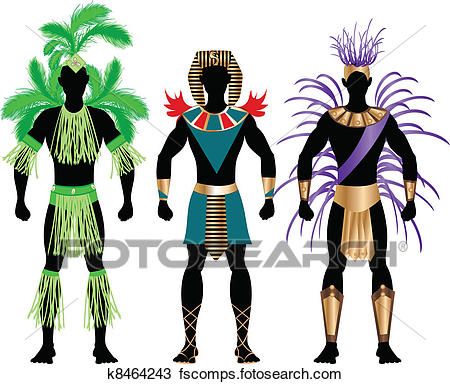 450x384 Clipart Of Male Carnival Costumes K8464243