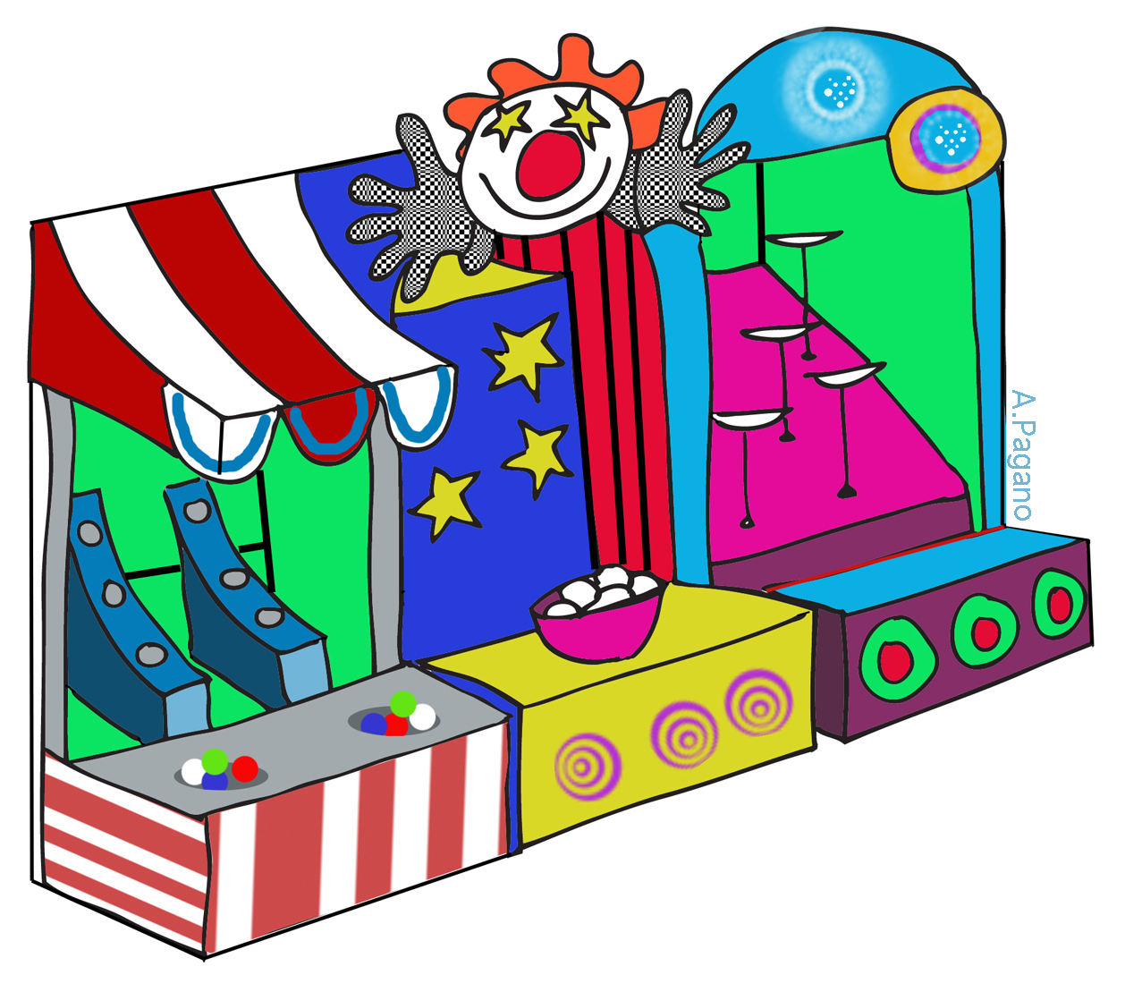 1258x1109 Carnival Clipart Food Stand
