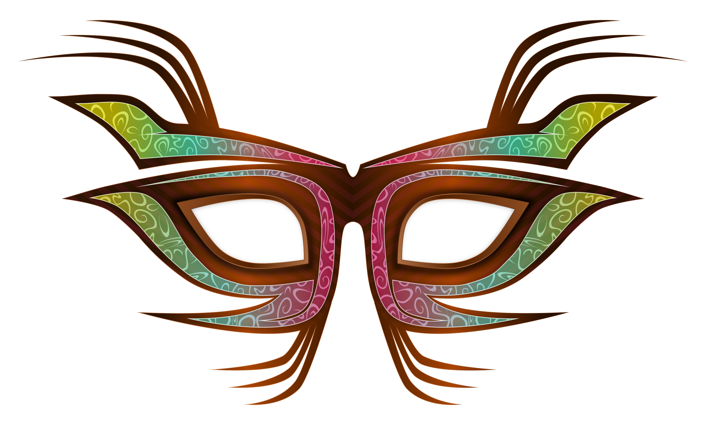 2400x1446 Carnival Mask Clip Art Free Vector Download Free