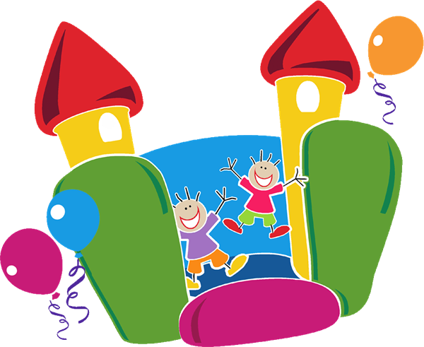 600x491 Carnival Bounce House Clipart