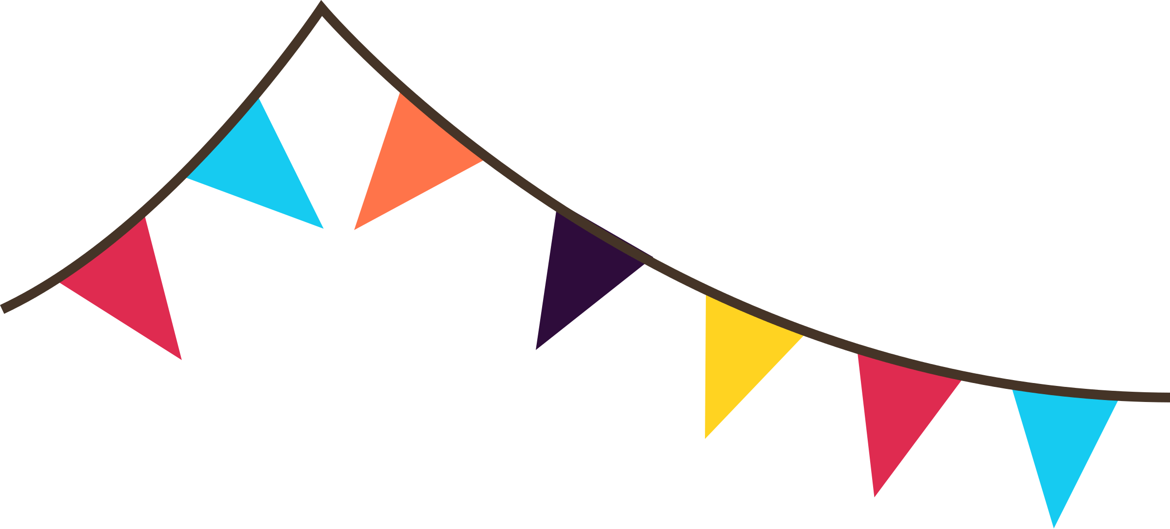 2400x1087 Carnival Flag Cliparts 186491