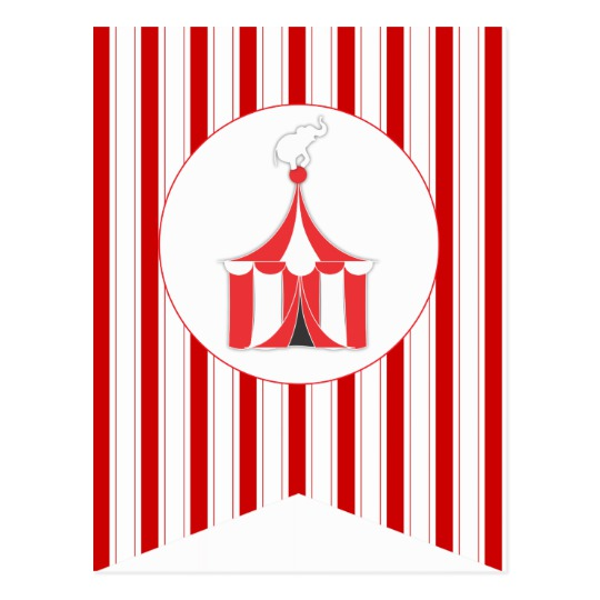 540x540 Carnival Red Party Flag Bunting Banner Post Card