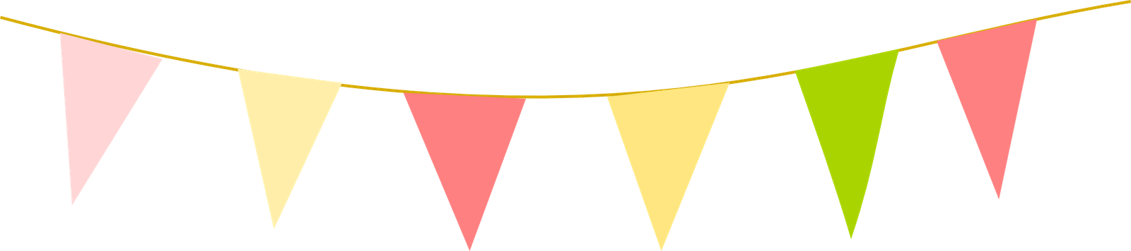1600x356 Carnival Clipart Flag Bunting