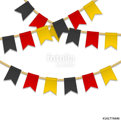 500x500 Germany Independence Day Background. Bunting Decoration In Colors