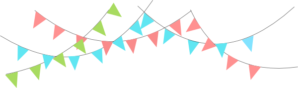 600x177 Triangle Flags Clipart