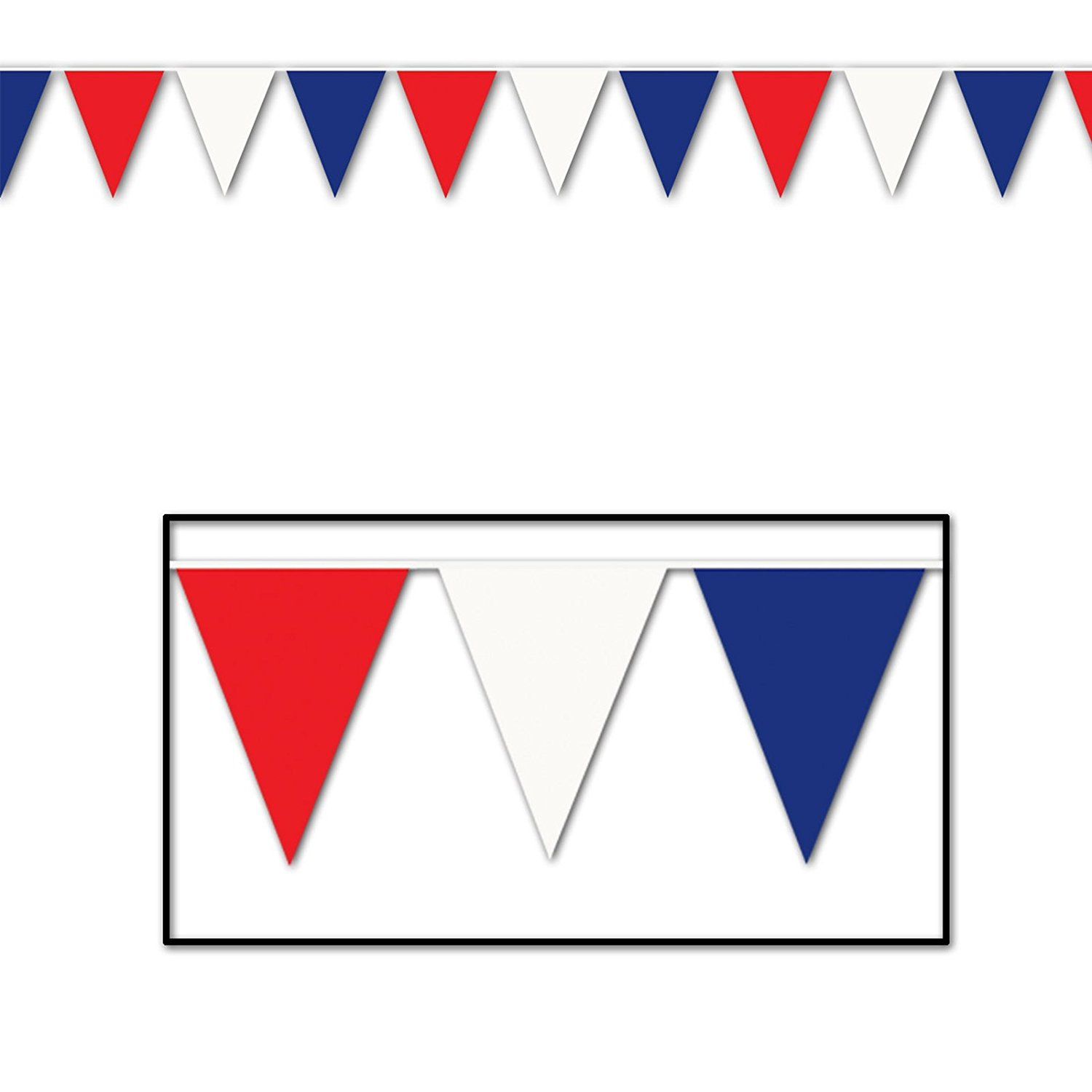 1500x1500 Outdoor Pennant Banner (Multi Color) Party Accessory