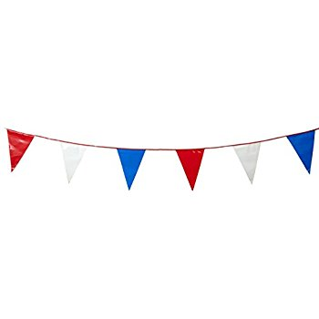 350x350 Red And White Triangle Pennant Flag 100 Ft. Toys Amp Games