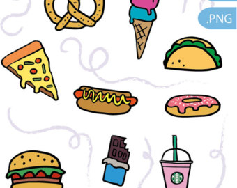 340x270 Fast Food Clipart Etsy
