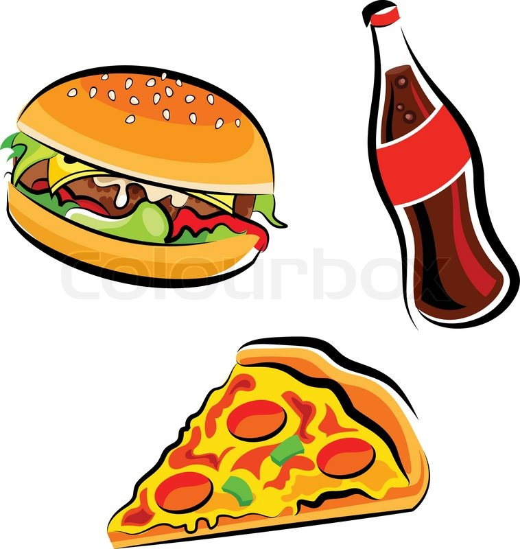 758x800 Fast Food Clipart Stock Vector Colourbox