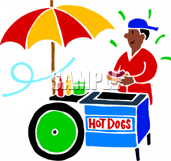350x329 Food Stand Clipart