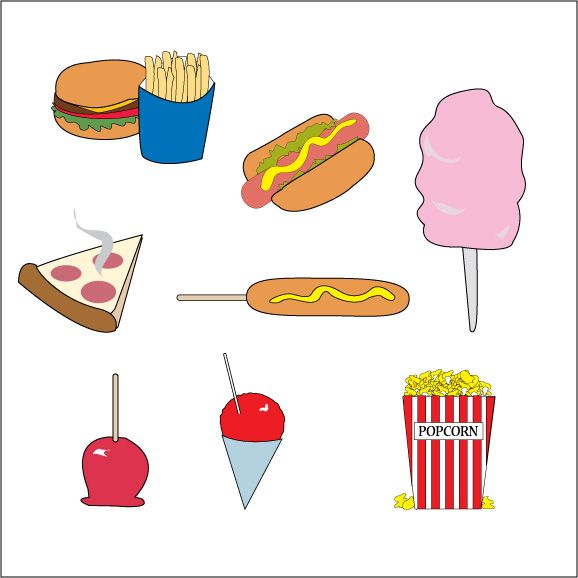 578x578 Snack Clipart Carnival Food