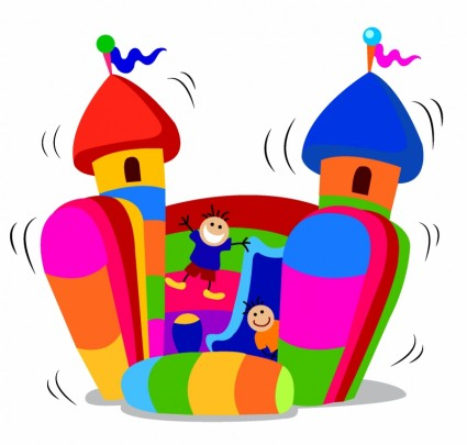 425x405 Carnival Bounce House Clipart