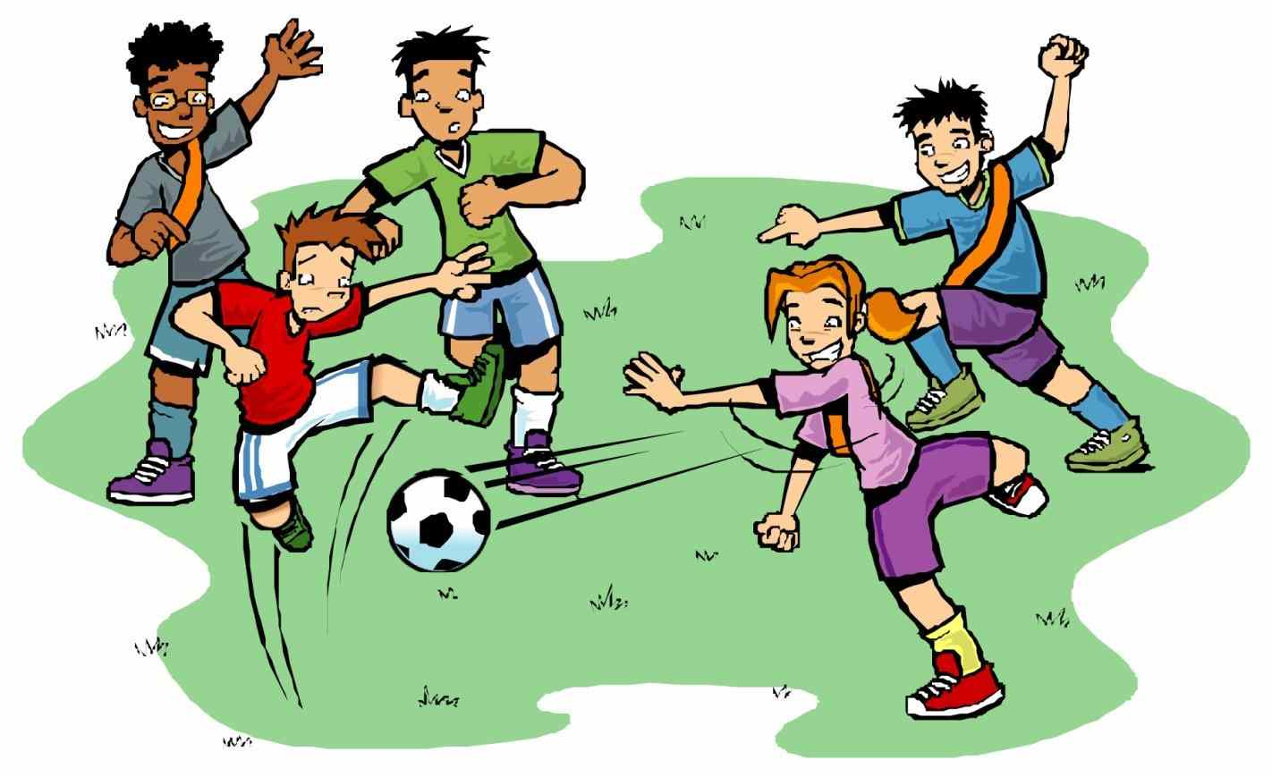1422x869 Family Outdoor Games Clipart
