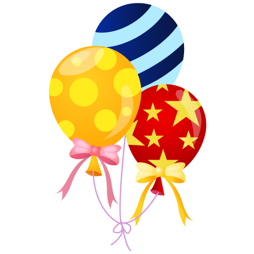512x512 Carnival Balloons Clipart