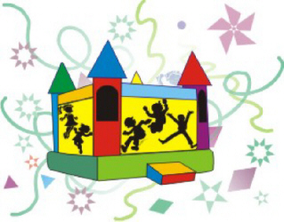 319x250 Carnival Bounce House Clipart