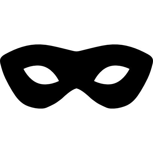 512x512 Carnival Mask Silhouette