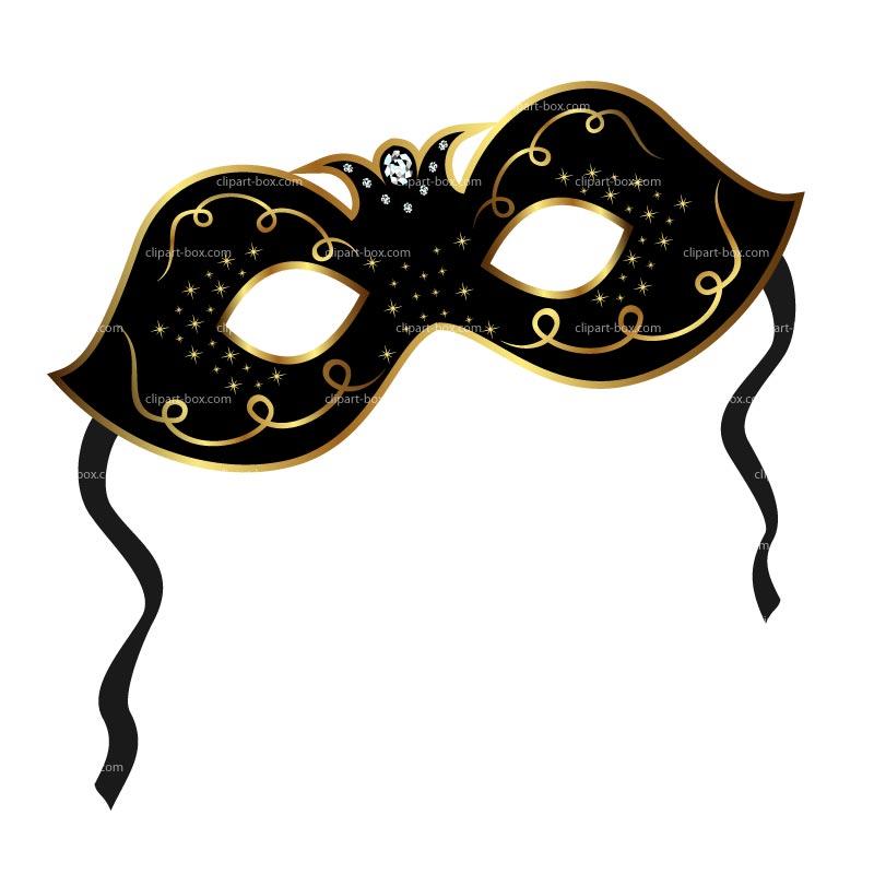 800x800 Black Masquerade Mask Clipart