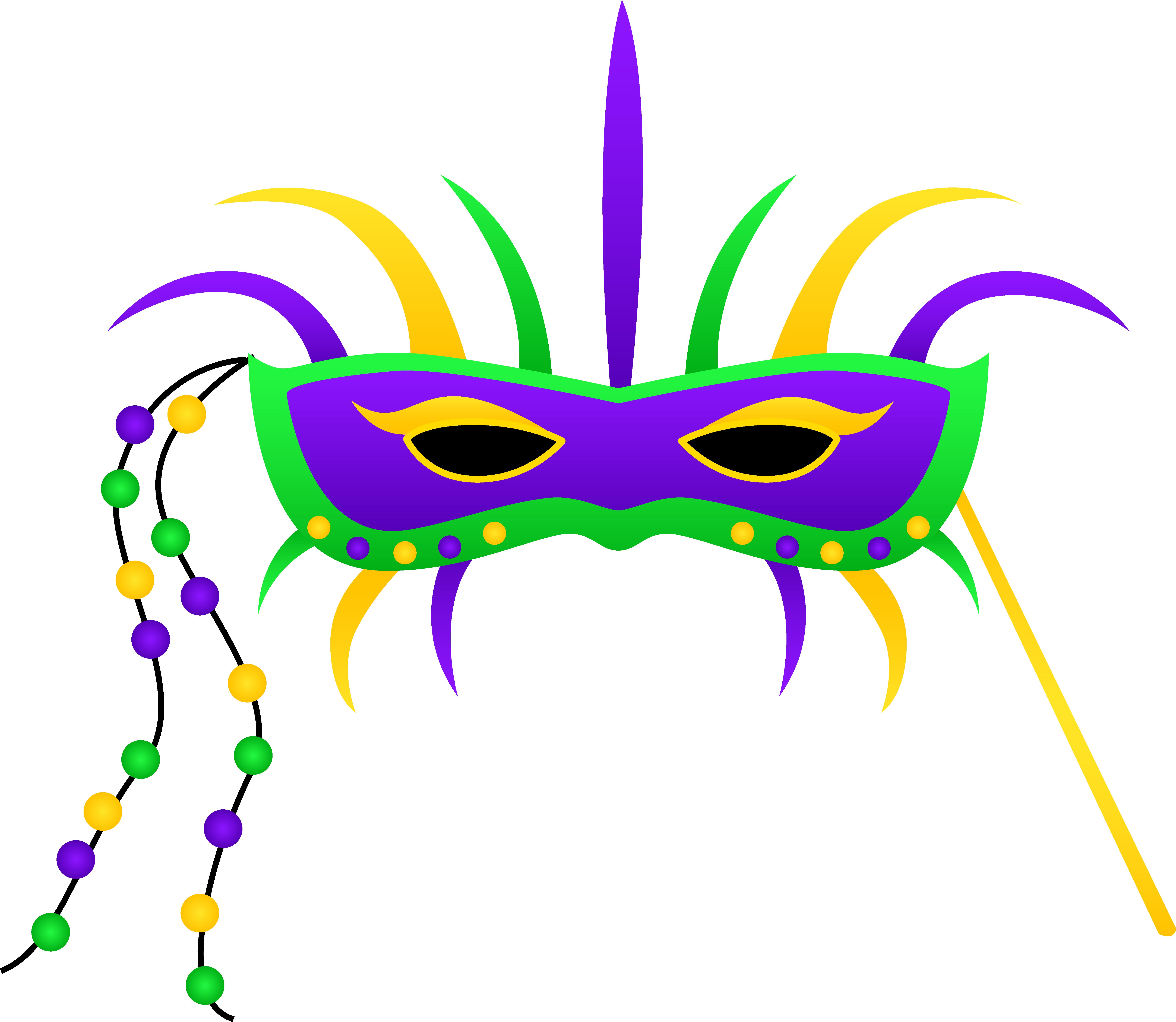 6684x5806 Mardi Gras Festival Mask Clipart