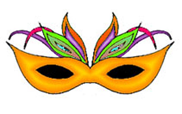 640x402 Mardi Gras Mask Clipart