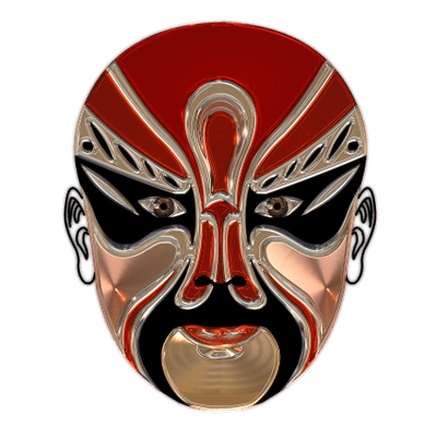 400x400 Mask Carnival White Transparent Png