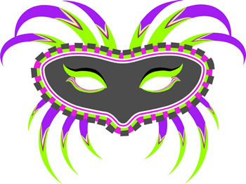 350x262 Mask Clipart
