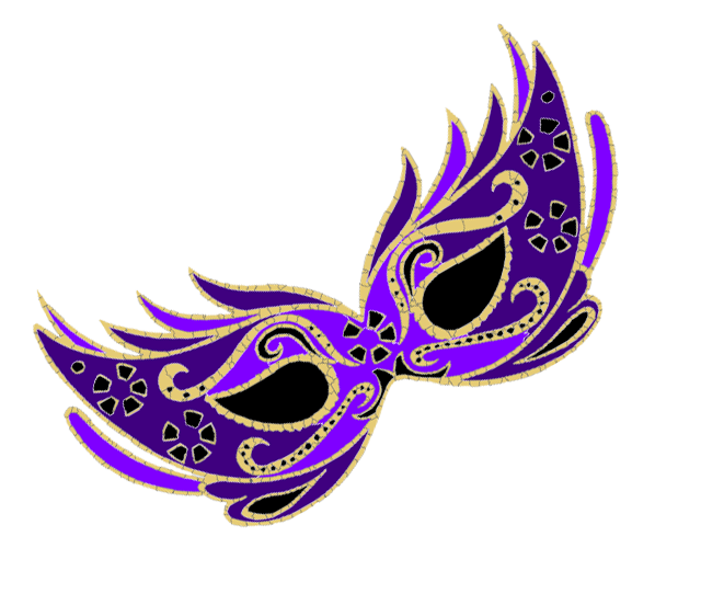 640x542 Mask Clipart Purple