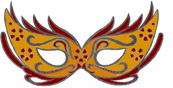 600x307 Masquerade Mask Clip Art