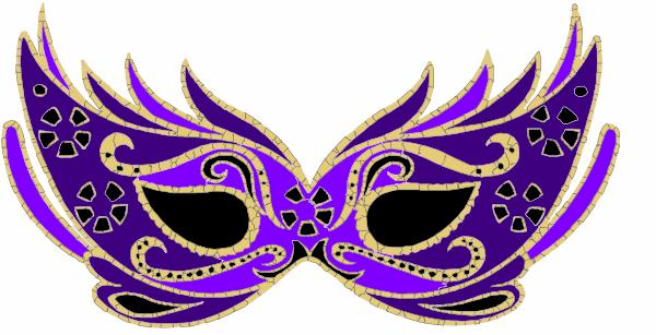 600x307 Purple Masquerade Mask Clip Art