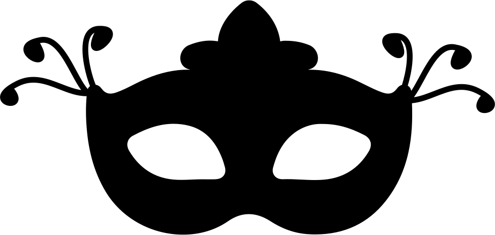 980x466 Carnival Mask Silhouette Svg Png Icon Free Download ( 33463