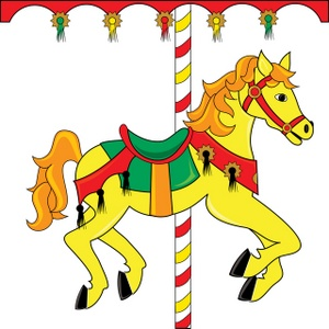 300x300 Carnival Carousel Clipart