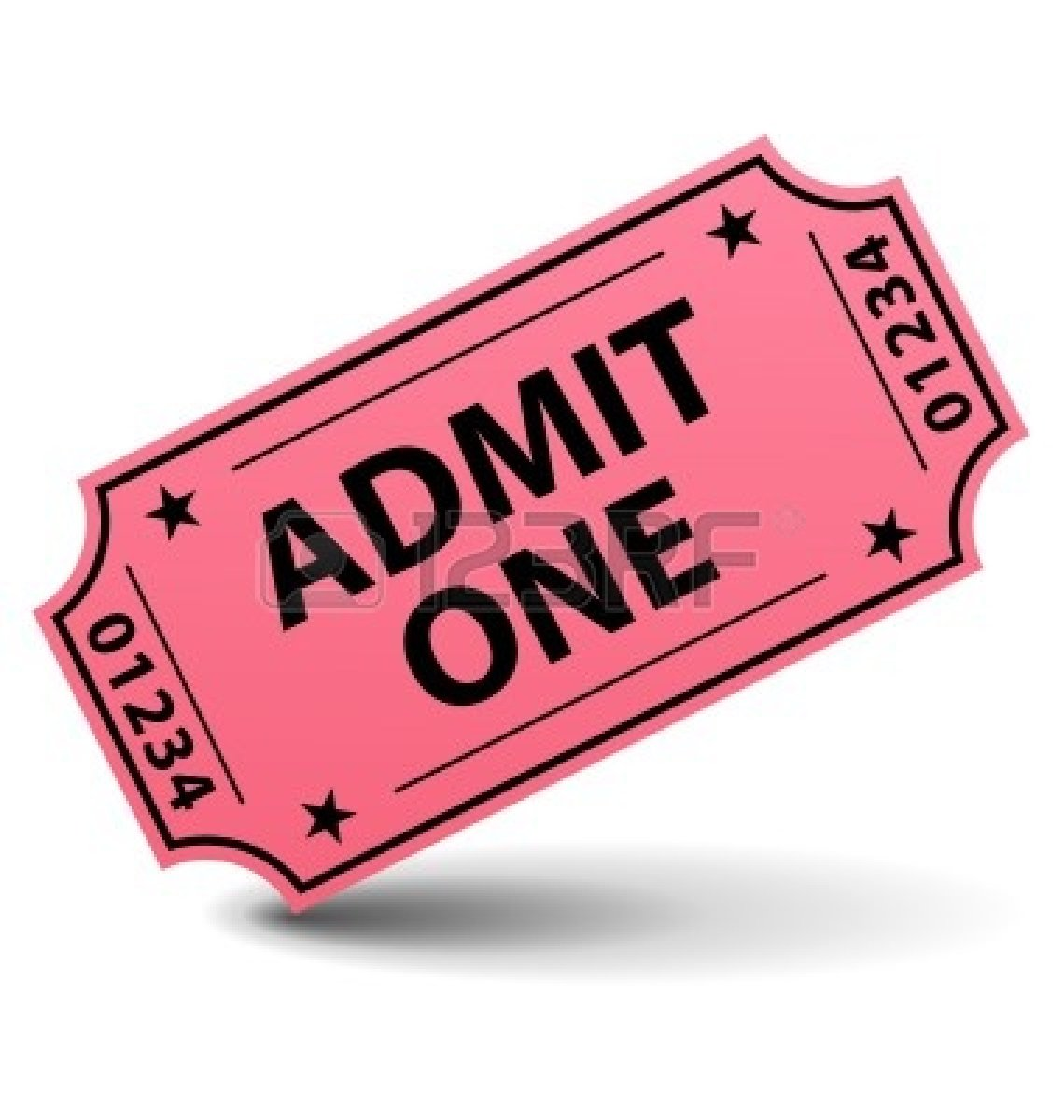 1140x1200 Admit One Ticket Clipart